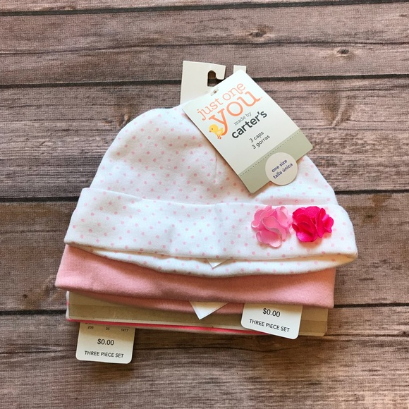 8633803078db8 Carter s Baby Girl s Caps- 3-Pack